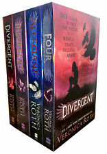 Veronica Roth Four Divergent Insurgent Allegiant 4 Books Collection Box Set Pack