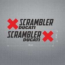 DUCATI SCRAMBLER STICKER DIE CUT DECAL VINYL RACING 2 pcs
