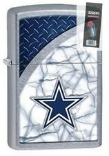 Zippo 29359 Dallas Cowboys NFL Street Chrome Finish Lighter + FLINT PACK