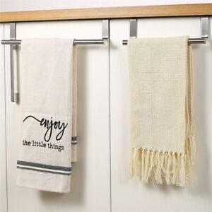 Towel Racks Over Kitchen Cabinet Door Towel Rack Bar Hanging Holder Bathroom-qk