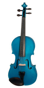 Stentor Harlequin Series 1/2 Half Size Violin Outfit with Case - Atlanta Blue