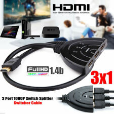 3 Port HDMI Splitter Cable 1080p Multi Switch Switcher HUB LCD HDTV PS3 Xbox XG