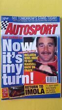 Autosport 27 April 1995 Vatanen Senna Nigel Mansell Imola British Rally DTM MINT