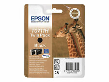Epson T0711h High Capacity Black Ink Cartridge Twin Pack.out of Date.