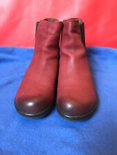Fly London Chelsea Womens Makr Ankle Boots Red UK 5