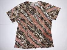 CANDA: Shirt, diagonal Muster, Brauntöne , Gr.: 46/48, sehr gut erhalten!