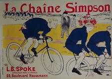 """Toulouse Lautrec Limited Edition Poster """"La Chaine Simpson"""" w/COA"""