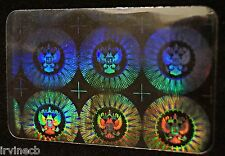 Hologram Overlays Presidential Inkjet Teslin ID Cards - Lot of 10