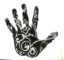 adesivo mano dita sticker decal vynil vinile auto moto car fingers hand fiori