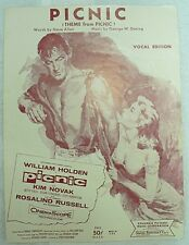 "SHEET MUSIC ""THEME FROM PICNIC"" 1955 WILLIAM HOLDEN"