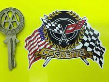 CHEVROLET CORVETTE Flags & Scroll style car sticker