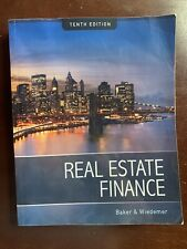 REAL ESTATE FINANCE By Baker & Wiedemer *Good Condition*