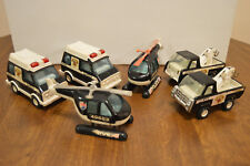 Vintage 1970's Buddy L Patrol Police Tow Trucks, Vans, Helicopters 49683 Japan