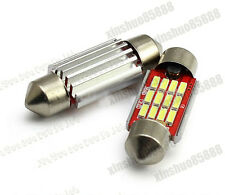 2pcs HID White Canbus 36mm 12SMD 4040 C5W LED Bulbs For License Plate Lights dc