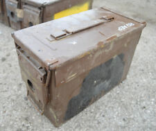 Ammo box Ammunition tin box ex MOD tool box ex army gift box