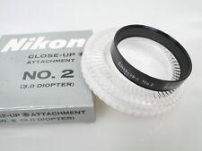 Nikon Close-Up attachment nahlinse no. 2 52mm + plexidose + scatola come nuovo