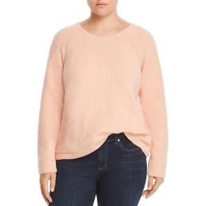 Eileen Fisher Womens Pink Organic Cotton Crew Neck Sweater Top Plus 1X BHFO 2548