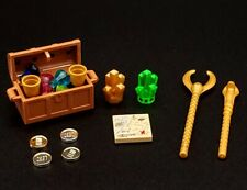 Lego Treasure Chest Gems Gold Coins Crystals Weapons Map TC5 Pirates Castle+++