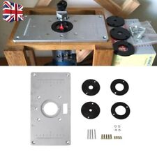 Aluminum Router Table Insert Plate With Ring For Woodworking 235mmx120mmx8mm UK