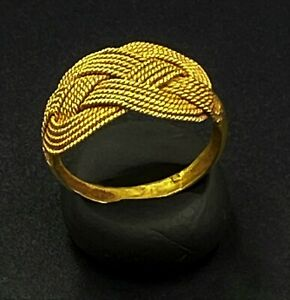 Old Vintage Ancient Antique Gold Jewelry Ring South East Asia Art Burma
