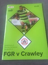 Forest Green v Crawley Programme 2017/18