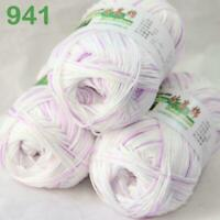 Sale Lot 3 skeinsx50g Soft Bamboo Cotton Baby Wrap Hand Knitting Crochet Yarn 41