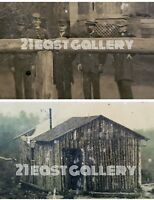 CIVIL WAR LOG CABIN PHOTOGRAPHER'S STUDIO SOLDIERS TINTYPES PHOTOS GA? TN? AL?