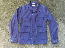 APOLIS Global Citizen Indigo Overdyed Work Chore Jacket - Indigo Blue - XS P