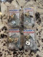 4 Sets -Mailbox Replacement Lock Assortment W/5 Cams 2 Keys Brass Finish S-4632C