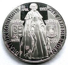 NETHERLANDS QUEEN BEATRIX 20 April 1993 SNEEK-VLIELAND BU Medal 38mm 19g I2.2