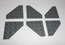 Lego (30503) 6 schräge Platten 4x4, in dunkelgrau aus 7673, 75044, 7676, 7905