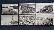 Vintage Blackpool Promenade Pier Beach Gardens Tower Postcard  Regent Fine Art