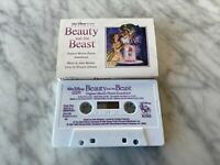 Beauty And The Beast Motion Picture Soundtrack CASSETTE Tape 1991 Walt Disney