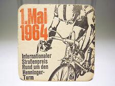 Henninger Bier Bierdeckel - Rennrad vintage retro Rennen Straßenpreis Tour
