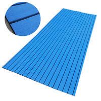 "17.8"" X 94.5"" Boat Flooring Blue EVA Teak Marine Yacht Decking Non-slip Carpet"