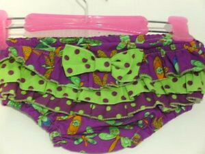 New Baby Frilly Ruffled Nappy Cover Bloomers 000 Ruffles Dragonfly Purple Girl's