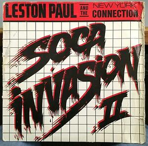 LESTON PAUL soca invasion II LP VG+ JW-005 Calypso Soca Reggae 1988 Record