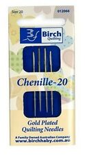 Birch Gold Plated Chenille Needles Size 20