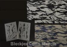 Camo Military Tiger Stripe Kit  (2) 12x9  Inch stencils. Camouflage