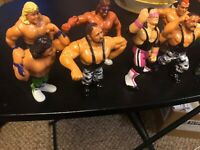 Wwf Wwe Early Vintage 1990's Gently Used Wrestling Action Figures Lot