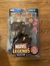 Marvel Legends Gambit Series 4 2003 Toy Biz Action Figure w/ Comic Book New