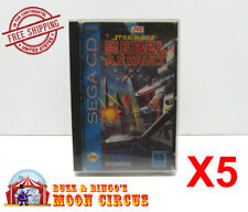 5x SEGA CD GAME CLEAR PROTECTIVE BOX PROTECTOR SLEEVE CASE - FREE SHIPPING!