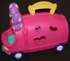 Disney Minnie Mouse Pink Yellow Tour Bus Van Swing No Figures EUC Hopscotch