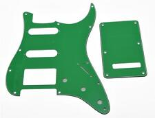 ST Strat HSS Pickguard, Trem Tremolo Back Cover w/ Screws Pure Green for Fender