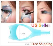 3 in 1 Eyelash Template Mascara Guard Curler Applicator Comb Brush Cosmetic Tool