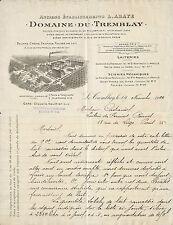 27 LE TREMBLAY DOMAINE DU TREMBLAY BEURRE LAIT FROMAGE COURRIER 1924