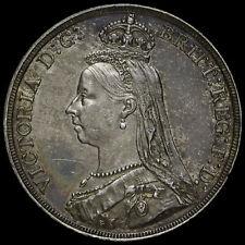 1887 Queen Victoria Jubilee Head Silver Crown, G/EF