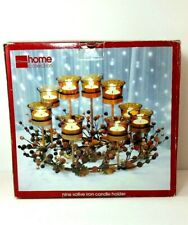 Home Collection Votive Candle Centerpiece Holder Amber Stand Candles Christmas