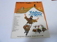 1971 (NOS) FIDDLER ON THE ROOF vintage music song book