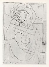 Pablo Picasso, Dreamy Woman in Armchair, Her Cheek on Her Hand, Vollard Suite